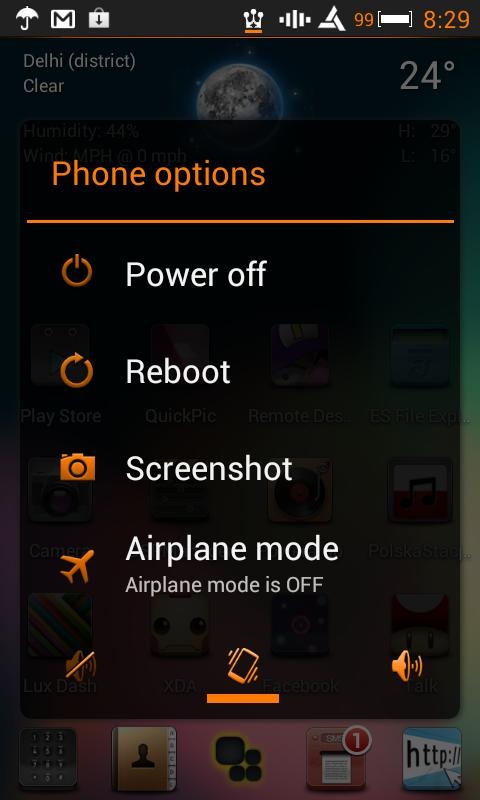 CM10 Orange Revolution Theme- screenshot