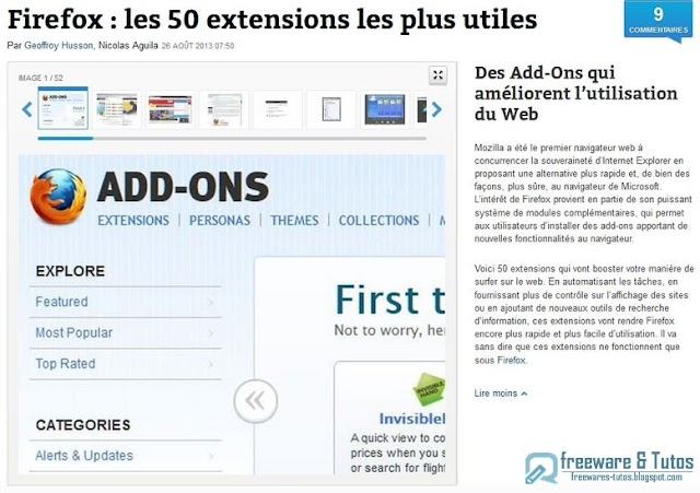 Firefox : les 50 extensions incontournables