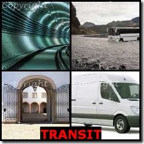 TRANSIT- 4 Pics 1 Word Answers 3 Letters