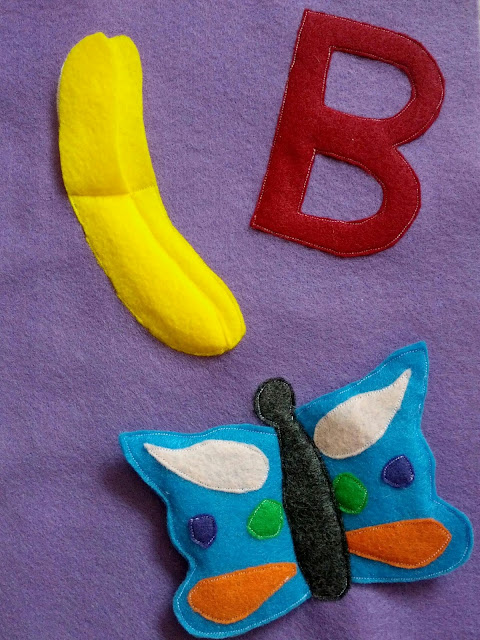 How to make a letter B themed quiet book page for an ABC quiet book