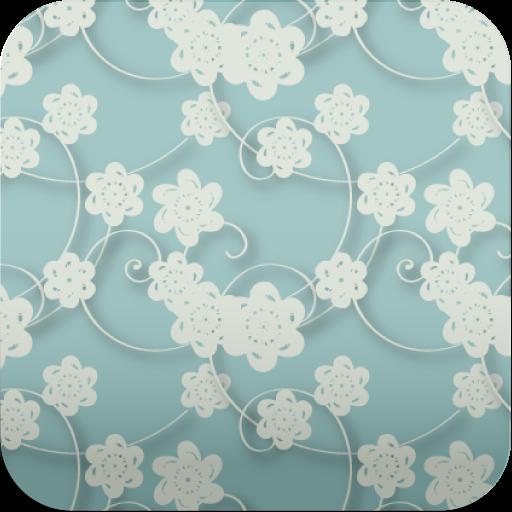 个人化の花柄♪【スマホ待ち受け壁紙】 LOGO-記事Game