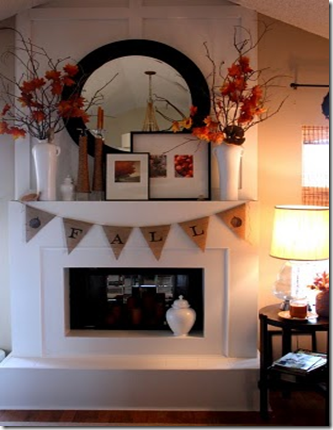 Sweet Something Fall Mantel its the little things that make a home