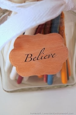 Lifestyle Crafts Wood Labels via homework