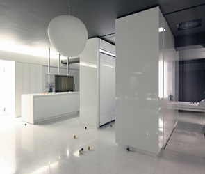 muebles minimalistas blancos