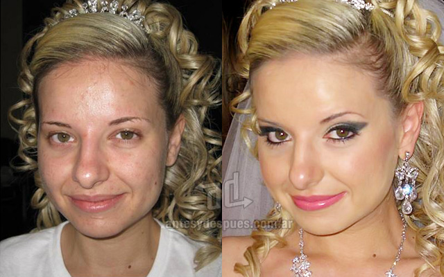 Before and after make-up artists 8