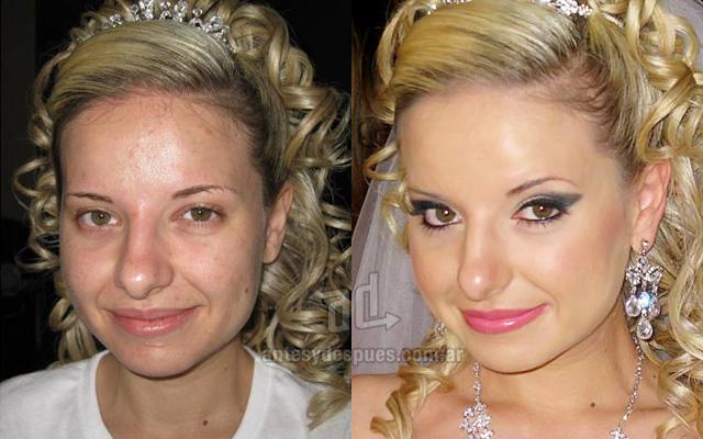 Antes y despues del maquillaje 8