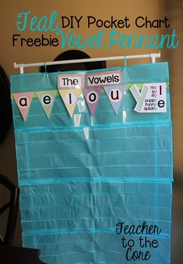 Making your own pocket charts is easy using these tips. This blog has uber fun freebies including this vowel pennant!