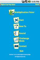 Screenshot of Multiplication Tutor II