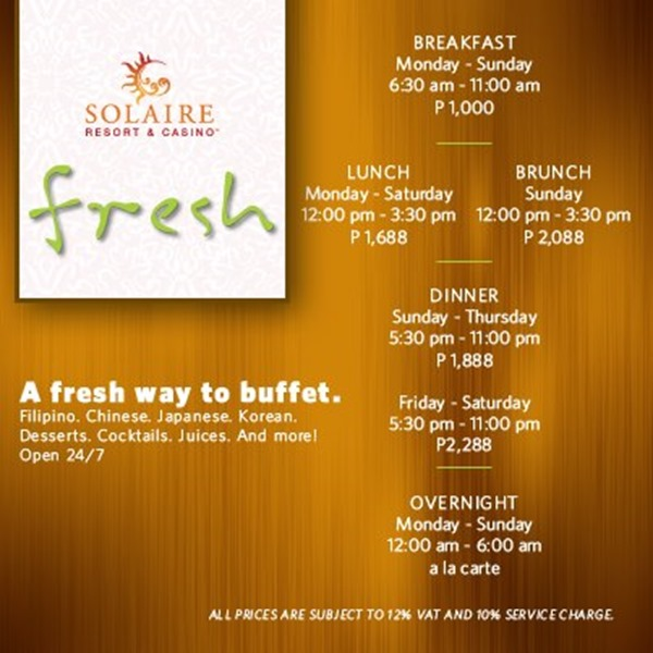 Solaire Fresh Buffet