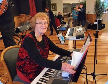 Sandi Crawford played the Korg Pa900. Sandi has only been learning the keyboard for 3 months being a pianist. Sandi played very well too! Photo courtesy of Dennis Lyons