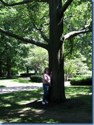 6451 Ottawa 1 Sussex Dr - Rideau Hall - Karen beside red oak planted by Jacqueline Kennedy