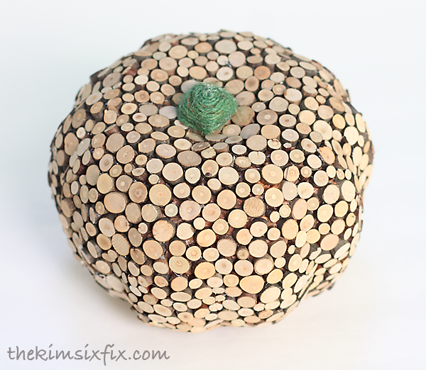 Dollar store wooden pumpkin