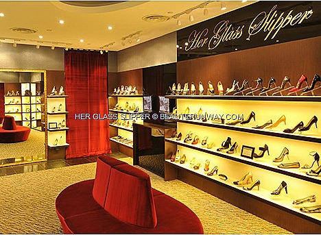 Her Glass Slipper Boutique Bruno Magli, DKNY, Emilio Pucci,  Givenchy, French Sole, Kenzo,Kenneth Cole 925, Marc Jacobs, Michael Kors, Ras, Repetto stilettos, mules, pumps, ballet flats wedges, slingbacks, strappy heels sandals