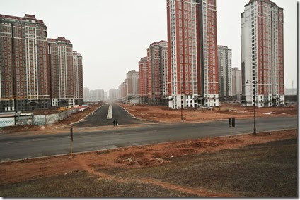Empty roads of A-town ordos housing complex