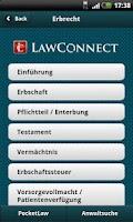Screenshot of Erbrecht