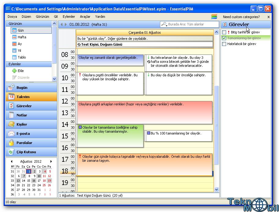 EssentialPIM Pro v7.51 Türkçe Full İndir