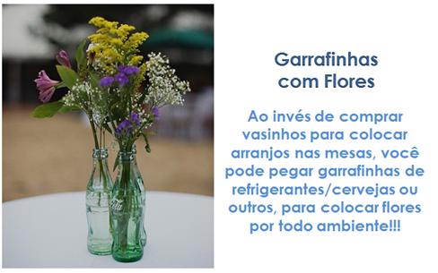 GARRAFINHAS COM FLORES - PLANETA CASAMENTO