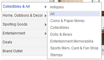 ebay art category