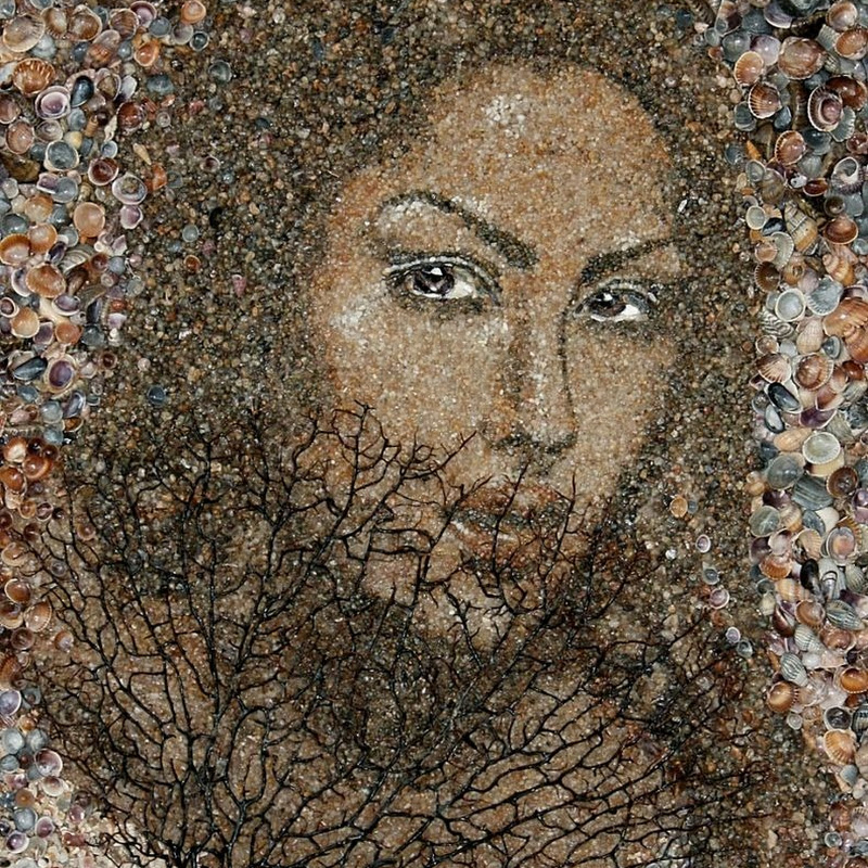 Beautiful Mosaics of Sand and Shells by Svetlana Ivanchenko