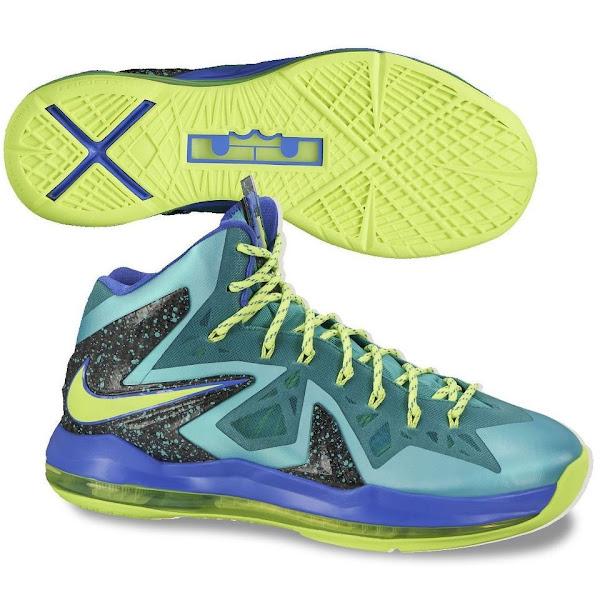 Nike LeBron X P.S. Elite – Turquoise – Official Launch ...  Lebron 10 Elite Turquoise
