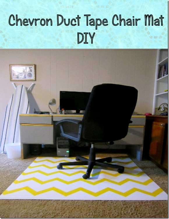 Chevron Duct Tape Chair Mat DIY
