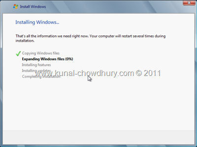 17. Windows 8 Installation Process Started