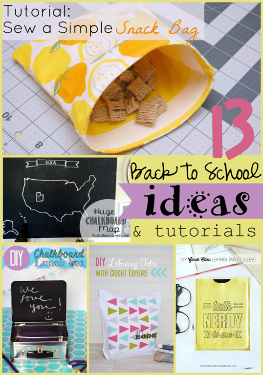 13 Back to School Ideas & Tutorials at GingerSnapCrafts.com #linkparty #features