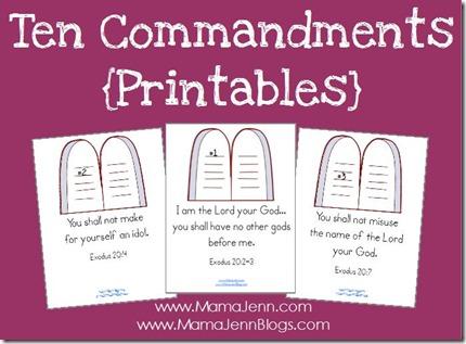 photo about Ten Commandments Printable Activities named 10 Commandments Printables Copywork Mama Jenn