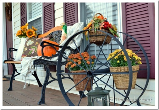 Wagon Wheel fall porch