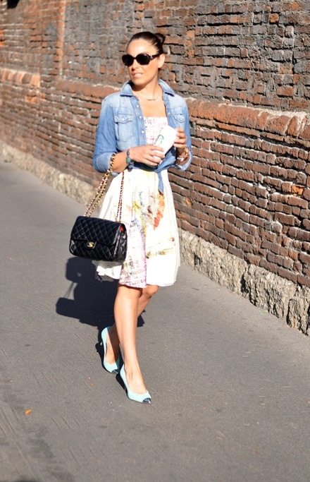 outfit of the day, italian style, stefanel dress, chanel, parigi, summer 2013