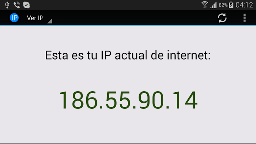 Ver IP de Internet