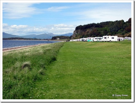 North Ledaig Caravan Park.