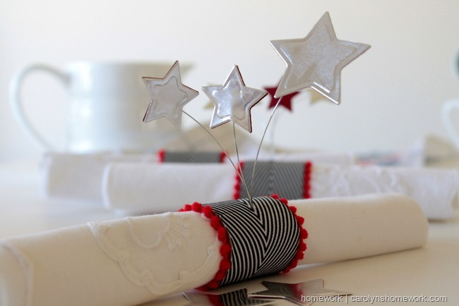 Patriotic Napkin Rings with Stars via homework ~ carolynshomework (14)