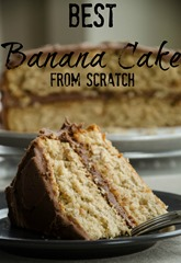 Best Banana Cake from Scratch | personallyandrea.com