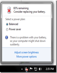 Cara Mengatasi Error Tanda Silang Merah Pada Icon Baterai Laptop Dan