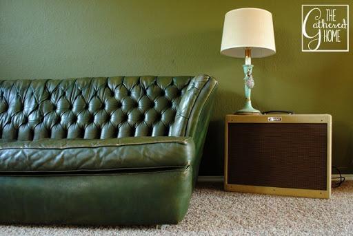 Green Tufted Leather Sofa 9