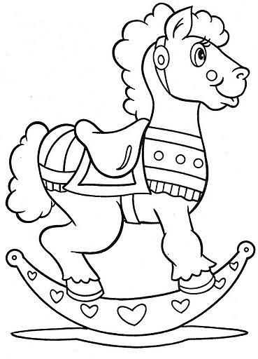 Colorear Dibujos De Caballos De Madera