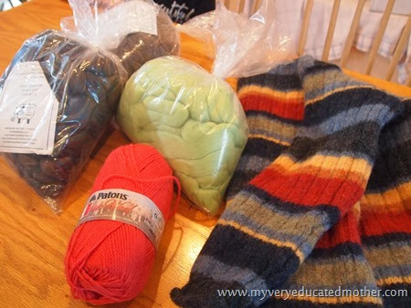 1 Supplies for Dryer Balls #DIY #recycledcraft #giftidea #greenliving