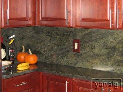 Genial Decora Arlington Cherry   Tropical Green Granite Kitchen
