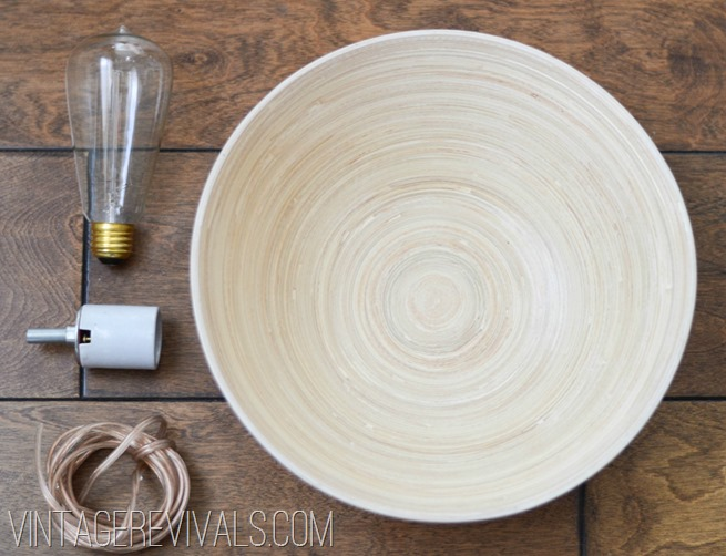 How to make a wall sconce from a bowl vintage revivals how to make a light out of a bowl vintage revivals 1 aloadofball Choice Image