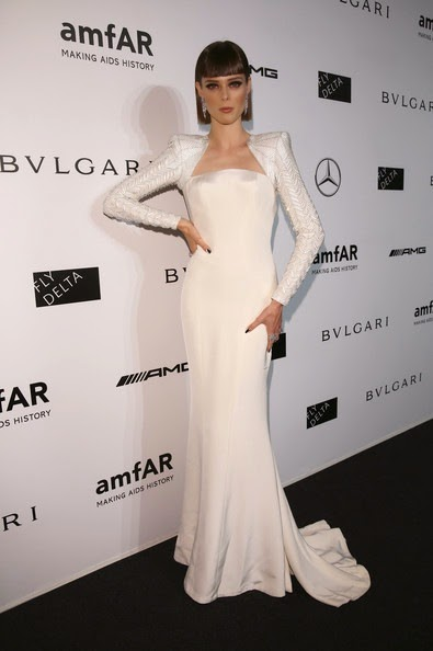 Coco Rocha attends the amfAR Milano 2014