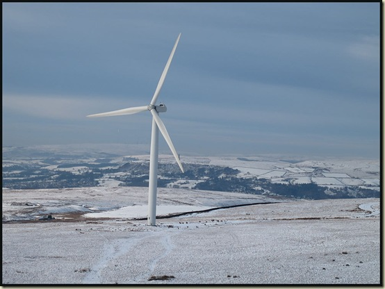 A wind turbine on Knowl Hill