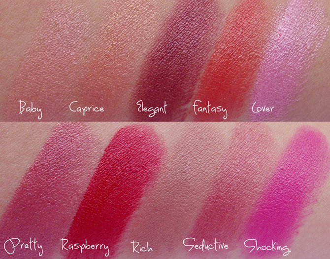 Swatches - Silk Shine da Tracta