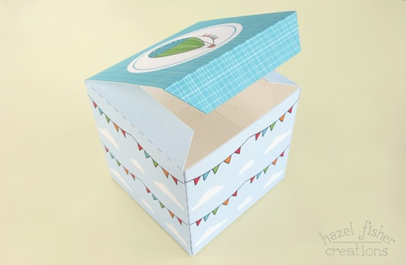 hot air balloon cupcake box tutorial 8
