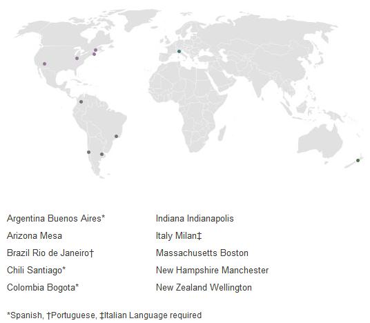 当前记录保存传教机会的地图