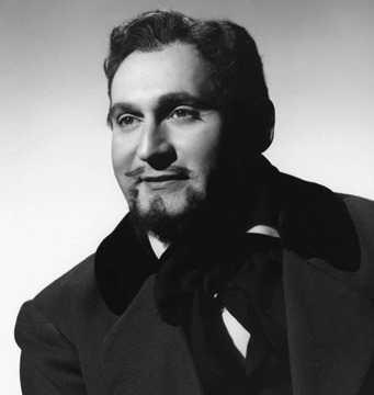 Richard Tucker as Rodolfo in Puccini's LA BOHÈME at the Metropolitan Opera, 1952 [Photo by Sedge LeBlang]