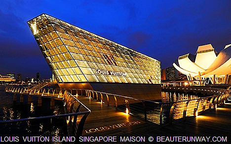 Luxury Brand Louis Vuitton unveiled its first ever Louis Vuitton Island Maison in Southeast Asia at Singapore Marina Bay Sands promenade