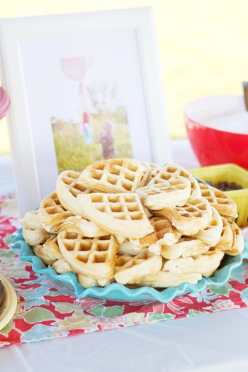 two year old colorful birthday party, waffle breakfast party, birthday breakfast, birthday party