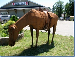 7720 Ontario Trans-Canada Hwy 17 - Massey life size metal horse sculpture