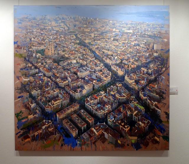 #Art / Mireu quins quadres d'edificis del pintor Albert Vidal a la sala Parés!